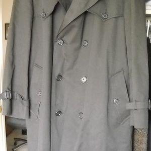 Men's Christian Dior Black Trench Coat 44R